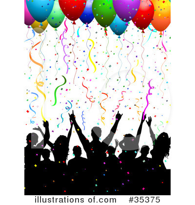 Party Balloons Clipart #35375 by KJ Pargeter