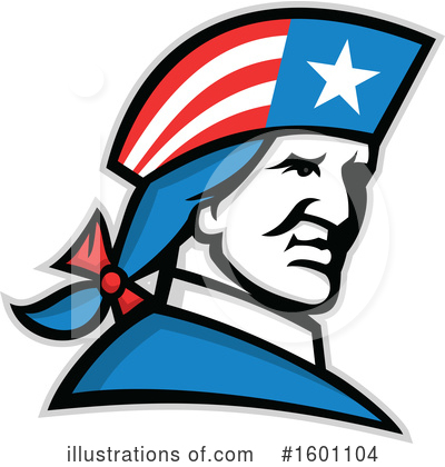 Royalty-Free (RF) Patriot Clipart Illustration by patrimonio - Stock Sample #1601104