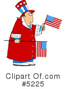 Royalty-Free (RF) Patriotic Clipart Illustration #5225