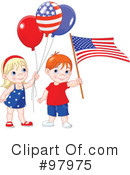 Royalty-Free (RF) Patriotic Clipart Illustration #97975