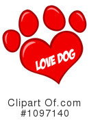 Paw Print Clipart #1097140 by Hit Toon