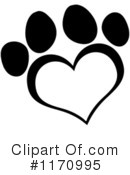 Paw Print Clipart #1170995 by Hit Toon