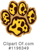 Royalty-Free (RF) Paw Print Clipart Illustration #1196349