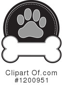 Royalty-Free (RF) Paw Print Clipart Illustration #1200951