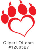 Royalty-Free (RF) Paw Print Clipart Illustration #1208527