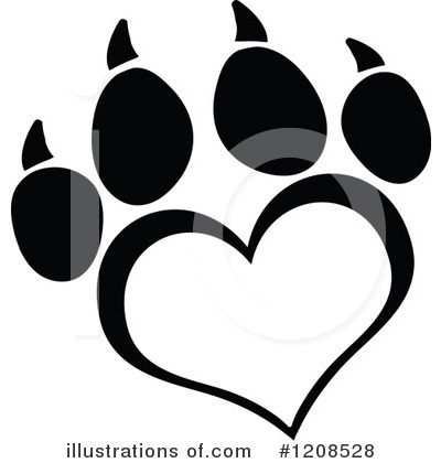 Paw Prints Clipart #1208528 by Hit Toon