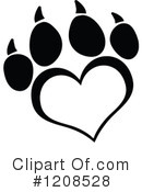 Royalty-Free (RF) Paw Print Clipart Illustration #1208528