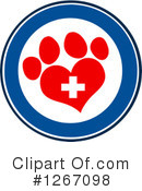 Royalty-Free (RF) Paw Print Clipart Illustration #1267098