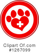 Royalty-Free (RF) Paw Print Clipart Illustration #1267099