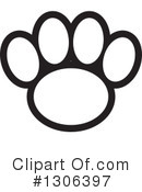 Royalty-Free (RF) Paw Print Clipart Illustration #1306397