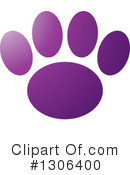 Royalty-Free (RF) Paw Print Clipart Illustration #1306400