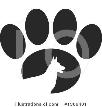 Royalty-Free (RF) Paw Print Clipart Illustration by Lal Perera - Stock Sample #1306401