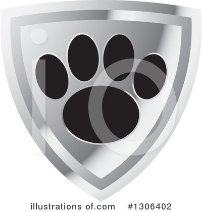 Royalty-Free (RF) Paw Print Clipart Illustration by Lal Perera - Stock Sample #1306402