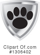 Royalty-Free (RF) Paw Print Clipart Illustration #1306402