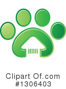 Royalty-Free (RF) Paw Print Clipart Illustration #1306403