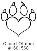 Paw Print Clipart #1601568 by Hit Toon