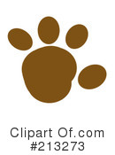 Royalty-Free (RF) Paw Print Clipart Illustration #213273