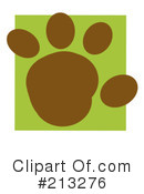 Royalty-Free (RF) Paw Print Clipart Illustration #213276