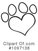 Paw Prints Clipart #1097138 by Hit Toon