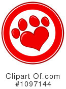 Paw Prints Clipart #1097144 by Hit Toon
