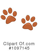 Paw Prints Clipart #1097145 by Hit Toon