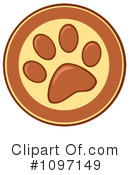 Paw Prints Clipart #1097149 by Hit Toon
