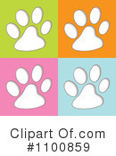 Paw Prints Clipart #1100859 by michaeltravers