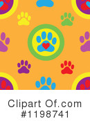 Paw Prints Clipart #1198741 by Maria Bell