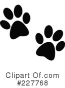 Paw Prints Clipart #227768
