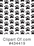 Royalty-Free (RF) Paw Prints Clipart Illustration #434419