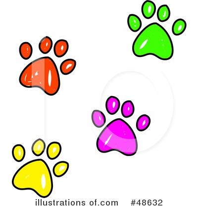 Royalty free rf paw prints clipart illustration by prawny stock