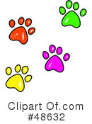 Paw Prints Clipart #48632