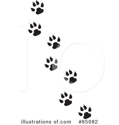 Royalty-Free (RF) Paw Prints Clipart Illustration by Dennis Holmes Designs - Stock Sample #65082