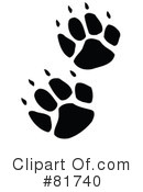 Royalty-Free (RF) Paw Prints Clipart Illustration #81740