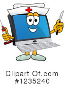Pc Computer Mascot Clipart #1235240 by Toons4Biz