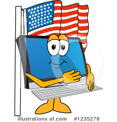Pc Computer Mascot Clipart #1235278 by Toons4Biz