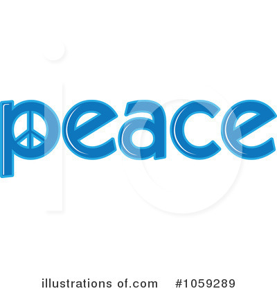 Peace Word Clip Art Peace clipart illustration