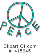 Royalty-Free (RF) Peace Clipart Illustration #1415945