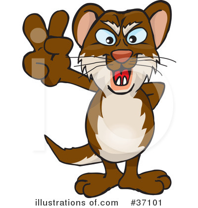 Weasel Clipart #37101 by Dennis Holmes Designs