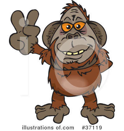 Monkey Clipart #37119 by Dennis Holmes Designs