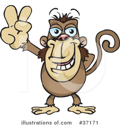 Monkey Clipart #37171 by Dennis Holmes Designs