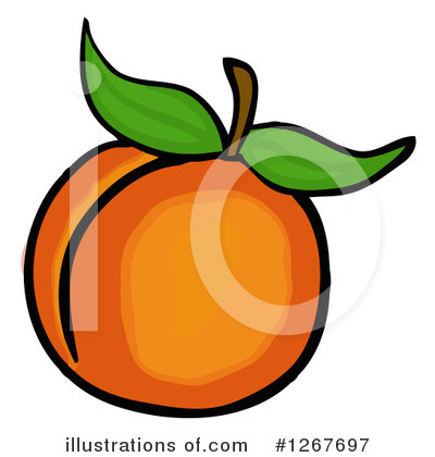 Royalty-Free (RF) Peach Clipart Illustration by LaffToon - Stock Sample #1267697