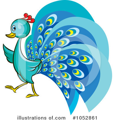 Peacock Clipart #1052861 by Lal Perera