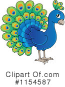 Royalty-Free (RF) Peacock Clipart Illustration #1154587