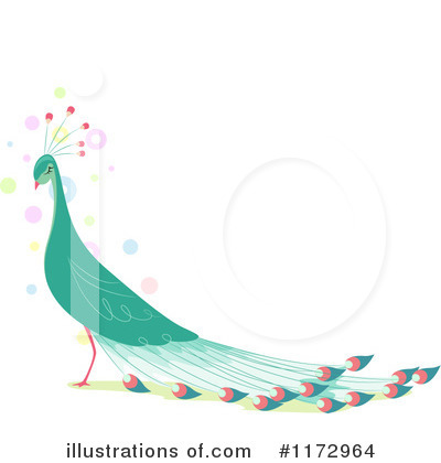 Peacock Clipart #1172964 by BNP Design Studio