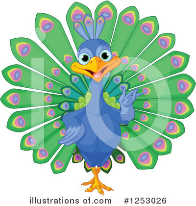 Peacock Clipart #1253026 by Pushkin
