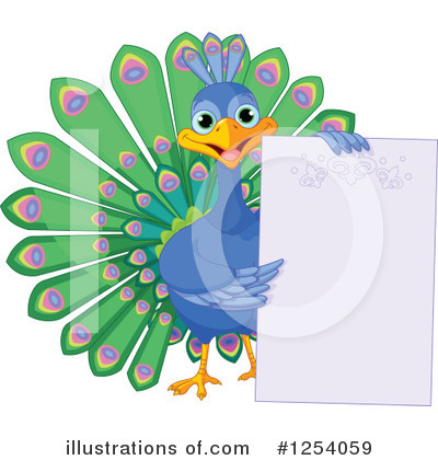 Peacock Clipart #1254059 by Pushkin
