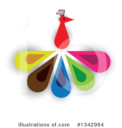 Peacock Clipart #1342964 by ColorMagic