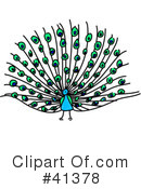 Peacock Clipart #41378