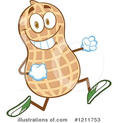 Peanut Clipart #1211753 - Illustration by Hit Toon